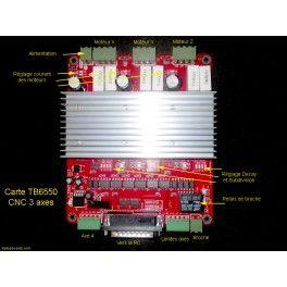Carte de contrôle TB6560 pour machine numérique CNC trois axes