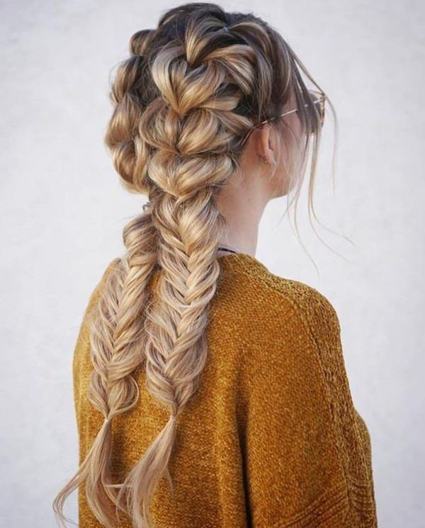 Double French Braids Hair Styles Long Hair Styles Braids For Long Hair