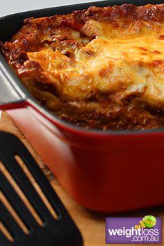 Low Fat Lasagne. #HealthyRecipes #DietRecipes #WeightLossRecipes weightloss.com.au