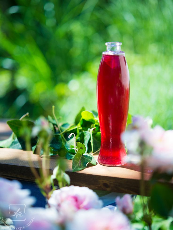 Rose petals syrup - looks like some love potion!