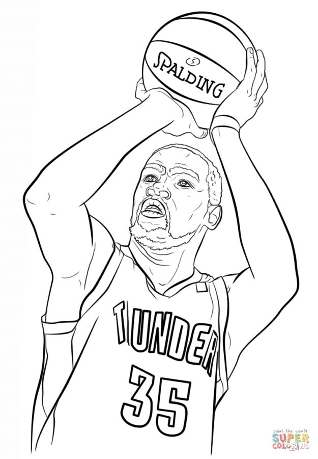 Kevin Durant NBA coloring pages