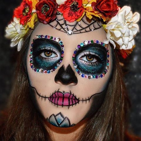 Sugar Skull  #halloweenmakeup by ✨@_all.of.the.above_ @_all.of.the.above_✨  #makeup #beauty #cosmetics #eyemakeup #eyeshadow #motd #makeupinspiration #makeupaccount #makeupaddict #wakeupandmakeup #lotd #instamakeup #instabeauty #fotd #halloween #halloweenideas #halloweenlook #sugarskull