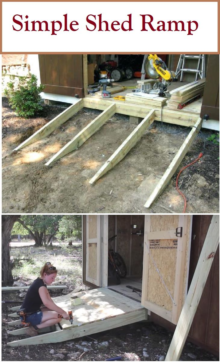 How to Build a Shed Ramp the Right Way Shed ramp, Simple