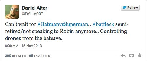 Batman Vs. Superman Producer Tweets Supposed Plot Details and Confirms Robin Role - The Film Junkee