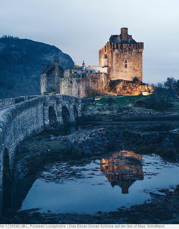 Das Eilean Donan Schloss Auf Der Isle Of Skye Schottland