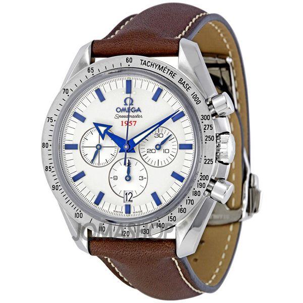 Omega Speedmaster Broad Arrow Silver Dial Chronograph Mens Watch 321.12.42.50.02.001