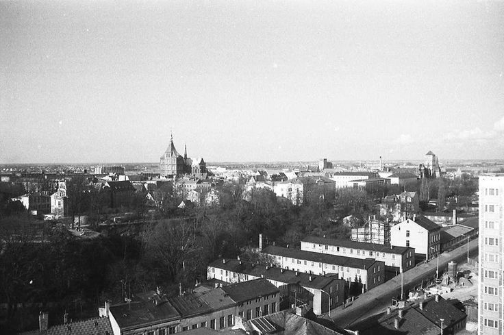 Rostock 1980, Blick vom Hochhaus August-Bebel-Straße