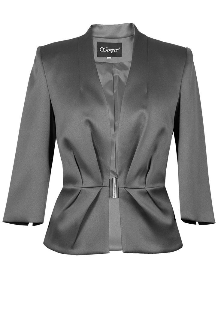 Żakiet Andrea ciemny popiel Semper #fashion #aw2016 #fw2016 #jacket #semper #grey #jacket #outfit #elegance #elegant #brandedfashion