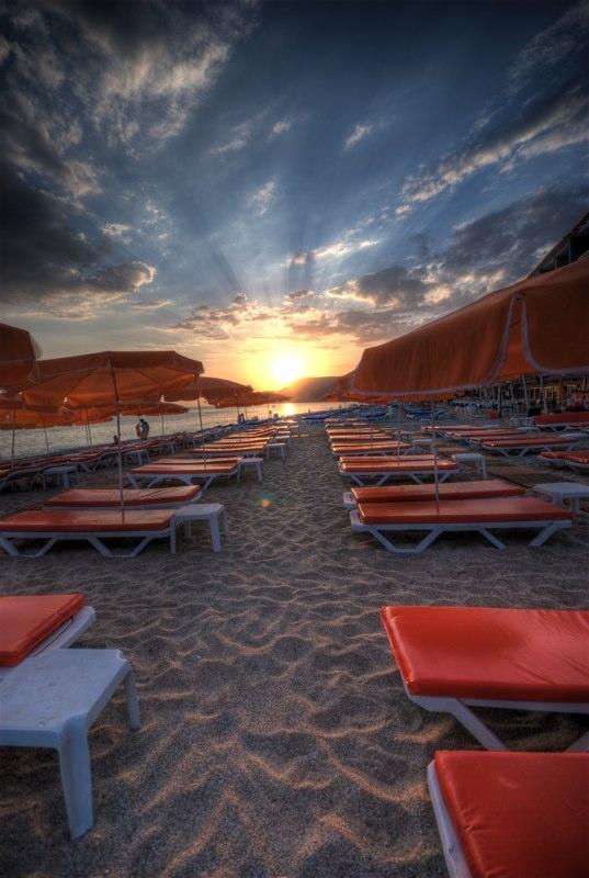 Sunset Cleopatra Beach, Alanya      Jeśli chcesz odwiedzić to miejsce, zapraszamy na www.turcja.com.pl