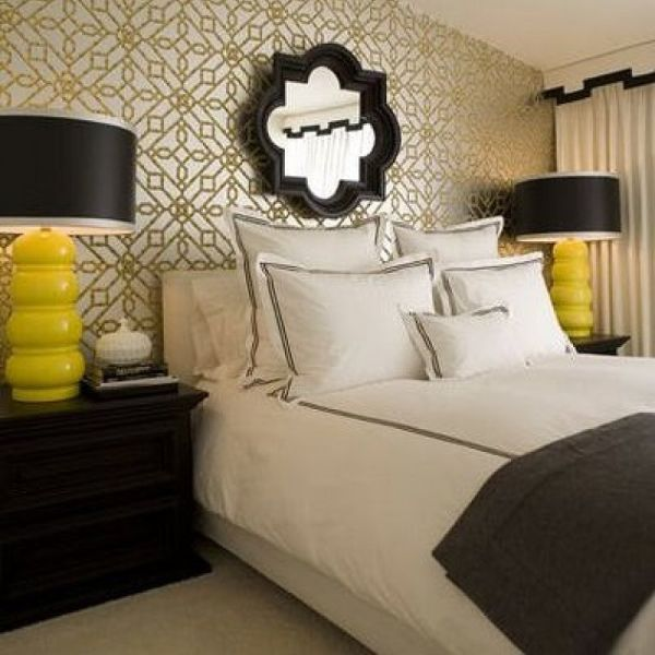 Black White And Yellow Bedroom 42 best wallcoverings for the bedroom images on pinterest | fabric
