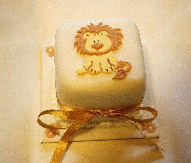 Mini Lion baby shower cake Jan 2010   Flickr - Photo Sharing!