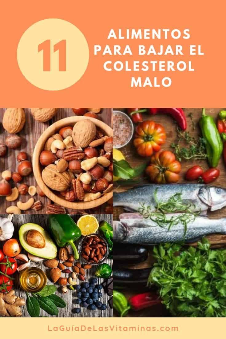 que frutas y verduras son buenas para bajar el colesterol