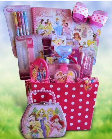 Pre-Made Easter Basket for Girls: Disney Princess Accessory Gift Basket at Amazon