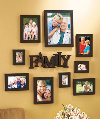 10-Pc. Family Picture Frame Set, love this for family display in the classroom