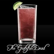 The Grateful Dead  1 part vodka  1 part light rum  1 part gin  1 part triple sec  1 part raspberry liqueur  2 parts sweet and sour mix  1 splash lemon lime soda
