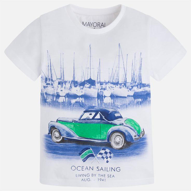 Maglietta manica corta macchina Bianco