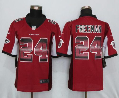 ba5a23b69 ... Nike Falcons 24 Devonta Freeman Red Team Color Mens Stitched NFL  Limited Strobe Jersey Mens Atlanta Falcons ...
