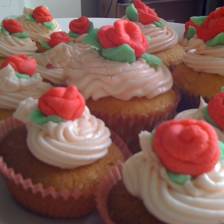 These rose-bud cupcakes were made to celebrate the birthday of two beautiful ladies...Ann & Olivia.