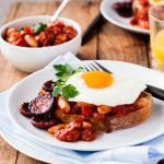 Chorizo Baked Beans on Toast