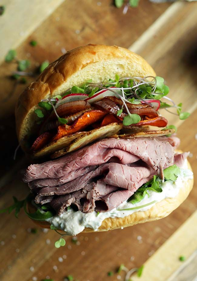 Looking to up your sandwich game? Check out this amazingly delicious Roasted Beef Sandwich Recipe with Horseradish Cream! (Sandwich Recipes)