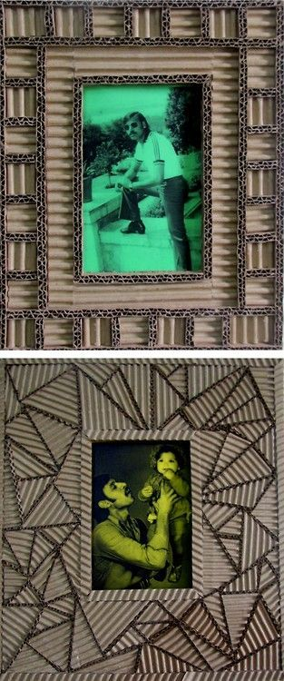 DIY Recycled Cardboard Picture Frame Tutorial: