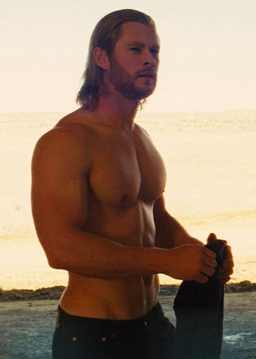"Chris Hemsworth... Oh dear heavens! How did this end up on my ""YUM"" board?! I must have made a mistake!!! Ya think?? LOL"