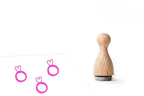 Ministempel Ehering mit Herz 12mm by herzimsturm on Etsy