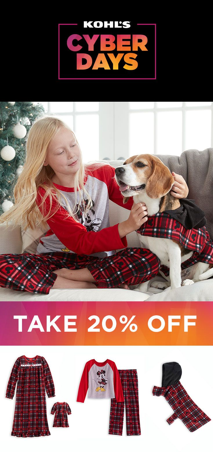 What's more adorable than one cute Christmas outfit? Matching outfits! Get the whole family (four-legged family included) ready for the holidays in cute style. Shop Cyber Days deals at Kohl's and take 20% off in store and online through 11/29 with promo code BUYNOW20. #shopping #gifts