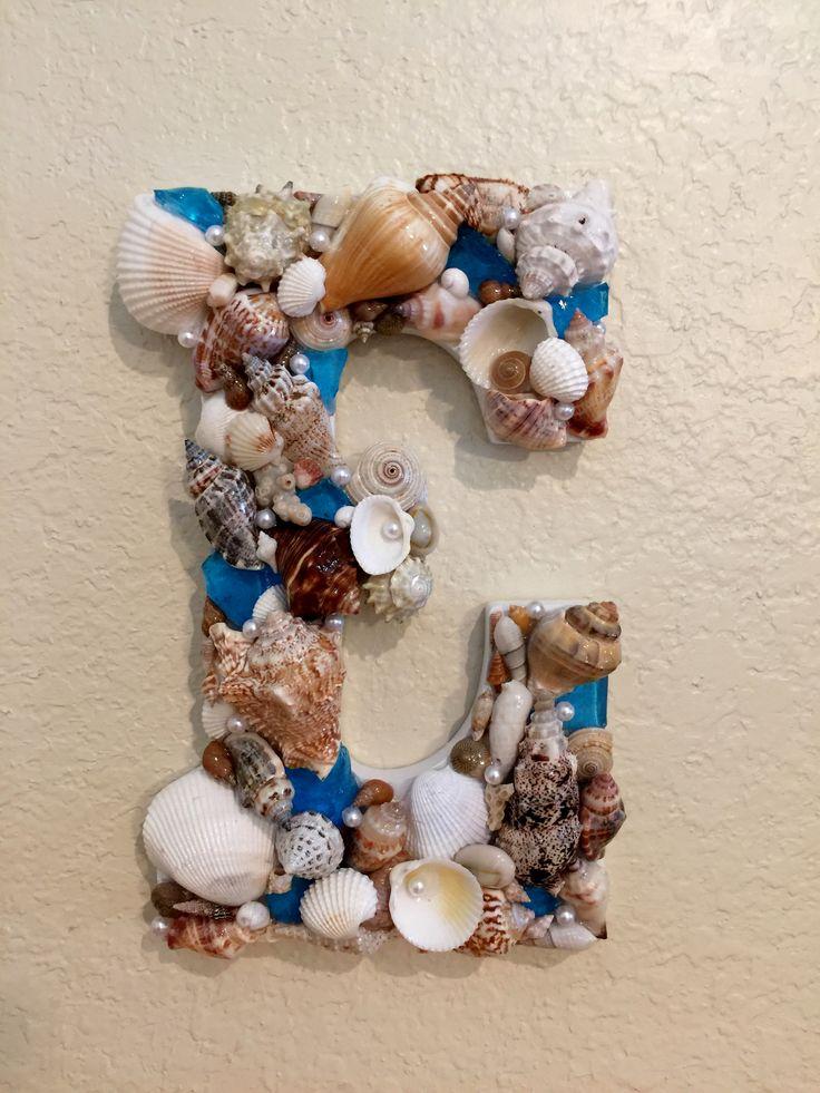 sea shell letter sold 56 best Monogram