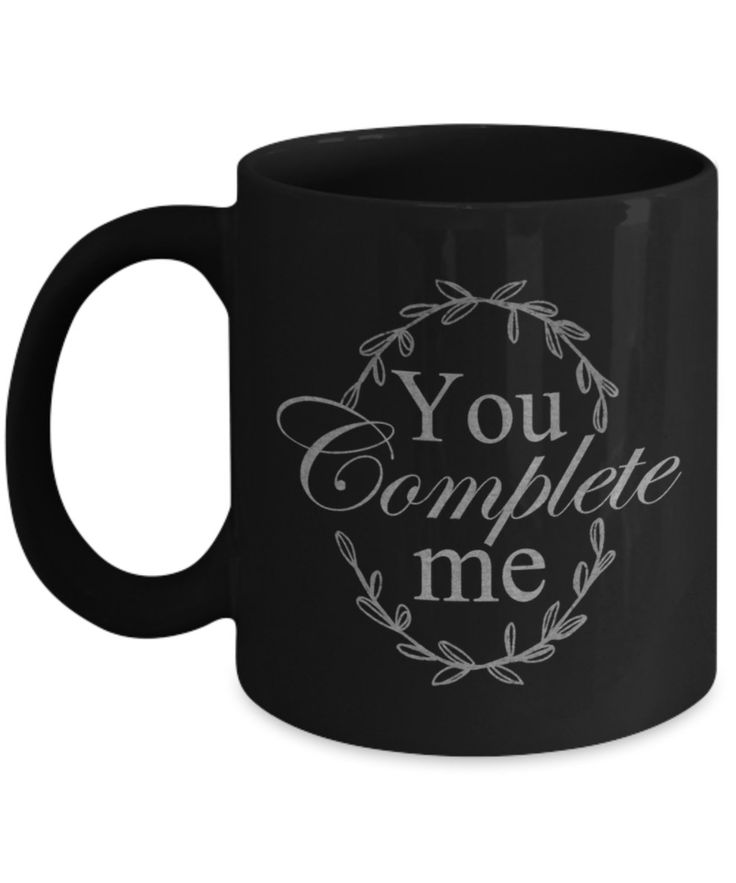 You Complete Me Coffee Mug. A Great Mug Gift for Someone You Love! by BearHugBoutique on Etsy