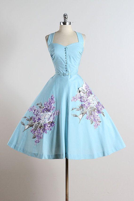 Syringa . vintage 1950s dress . vintage party by millstreetvintage