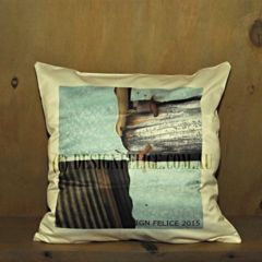 Australian Provincial Farm 'Corrugated Iron Cross Cushion' Designed, Photographed and Printed in Australia by designfelice.com.au (C) DESIGN FELICE 2015