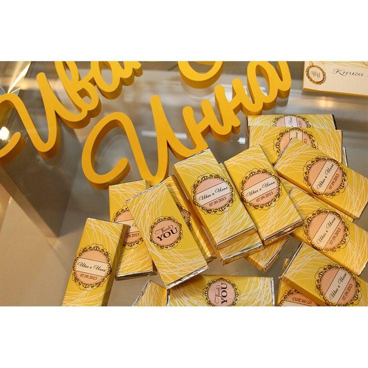 lovelydecor.ru - oформление свадьбы - Именные шоколадки в подарок гостям на свадьбу