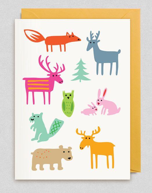 Bengt and Lotta Woodland Animals card at Lagom
