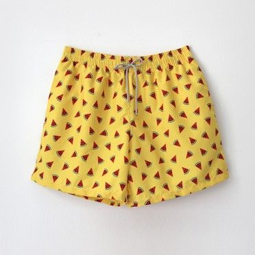 €39.95 Yellow watermelon men swimshort / Bañador de hombre Ocoly amarillo de sandias