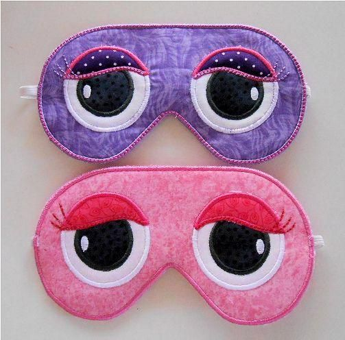 "In the Hoop ""Sleep Mask"" this fun #inthehoop #machineembroidery project set comes with instructions! You'll have a restful mask stitched out in no time! It's great for a sound nights sleep."