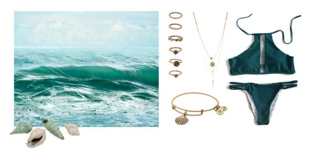 """Untitled #50"" by line00 on Polyvore featuring WithChic, Forever 21, Alex and Ani and sea"