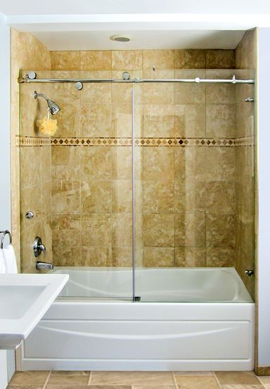 Over The Tub Enclosure   Dulles Glass Enclosures · Glass Shower ...
