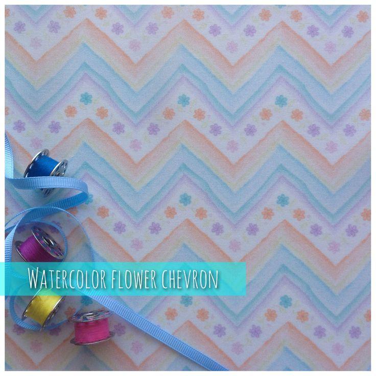 "https://flic.kr/p/uk9h4F | Watercolor Flower Chevron . | <a href=""http://www.spoonflower.com/fabric/4076357"" rel=""nofollow"">www.spoonflower.com/fabric/4076357</a>"
