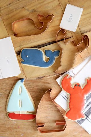 Copper Cookie Cutters - Summer Nautical -  Lobsters, Sailboats & Whales! Everyday Occasions