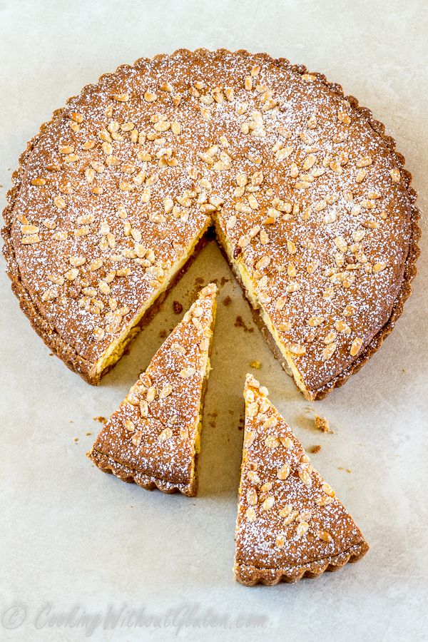 Gluten free frangipane tart with buckwheat crust