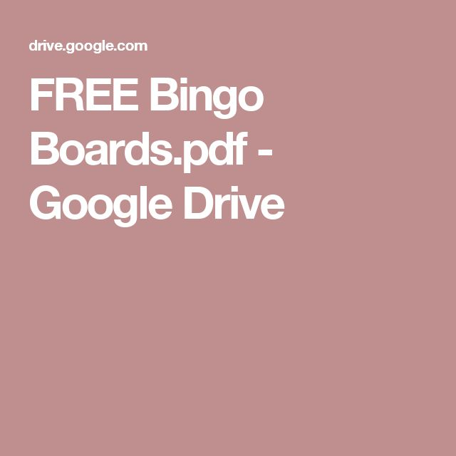 FREE Bingo Boards.pdf - Google Drive