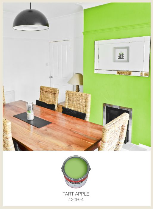 This Green Accent Wall Is Sure To Brighten Up Any Room
