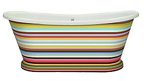 Amazing BC Designs striped boat bath - find out more here:  http://www.ukhomeideas.co.uk/ideas/bathroom/bathtubs/bc-designs-presents-its-acrylic-boat-bath-in-stripes/