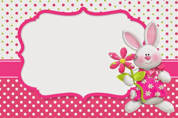 Pascua en Rosa: Invitaciones para Imprimir Gratis.