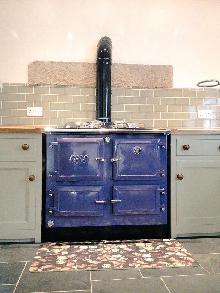 Beautiful lavender Esse install #rangecooker #esse #stoves #countrykitchen #cooking #kitchendesign #range @ESSE1854