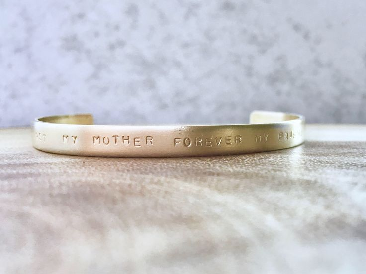 Excited to share the latest addition to my #etsy shop: first my mother forever my friend cuff || gift for mom + Mother's Day + personalized cuff + mom best friends gift + birthday gift + custom #jewelry #bracelet #bronze #silver #yes #women #lovefriendship #christmas #birthday