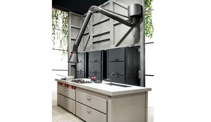 Check out the Mina Kitchen and its fab range hood by Italy's Minacciolo.