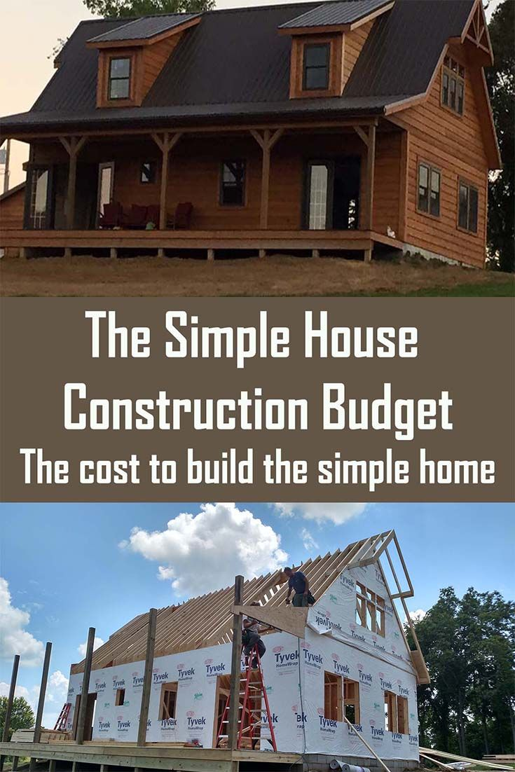 The Simple House Construction Budget – What It Cost To Downsize To The 1054 Square Foot Simple House.