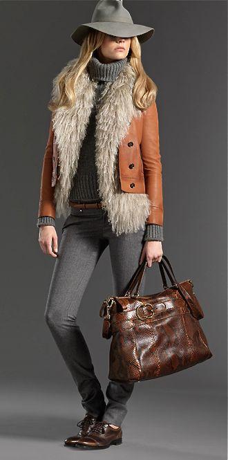 Like the turtleneck under the fur vest under the jacket!